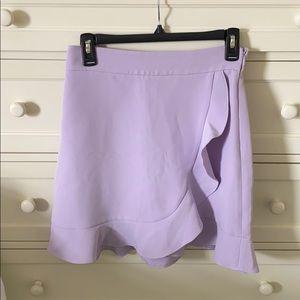 Club Monaco Lilac Tier Skirt